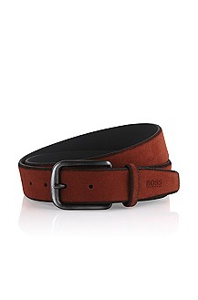 Belt made of brushed cowhide leather 'Caros-S'