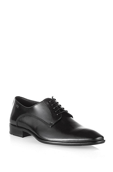 Lace-up dress shoe in smooth leather 'Carmons', Black