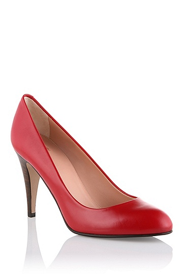 Court shoe made of smooth calf leather 'Daylin', Red