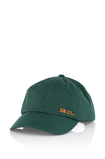 Cap with an adjustable, fabric strap 'Forcano4', Dark Green