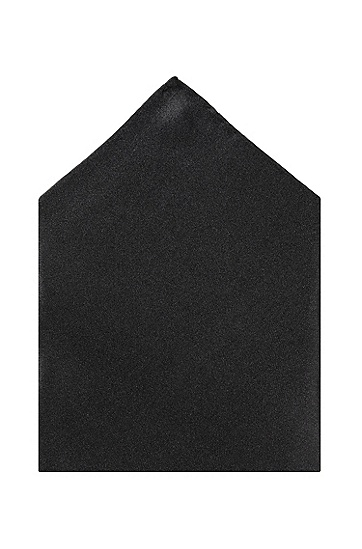 Silk pocket handkerchief 'Pocket square 33 x 33', Black