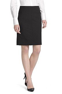 Wool blend pencil skirt 'Rova-1'