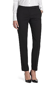 Business trousers in blended new wool 'Harile-1'