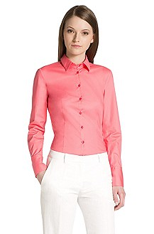 Stretch cotton blouse 'Etrixe1'