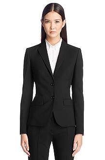 Body lined blended new wool blazer 'Amiesa-2'