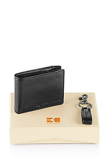 Wallet and key ring gift set 'Geki'