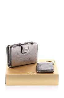 Wallet gift set in calfskin leather 'Makie'