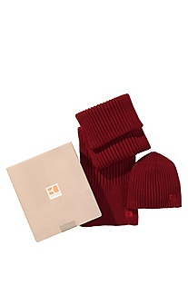 Scarf and hat gift set ´Fagen Set`