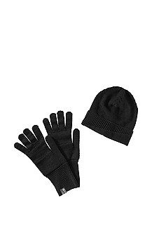 Wool blend gloves and beanie 'Farbot Set'