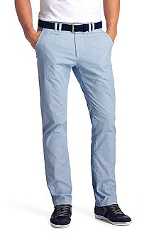 Regular fit plain coloured trousers 'Delon-W'