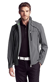 Outdoor jacket with a hood in the collar 'Jello'