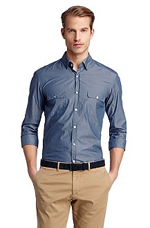 Casual shirt with two flap pockets 'Li'