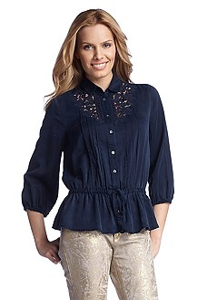 Casual silk blouse 'Elovee'