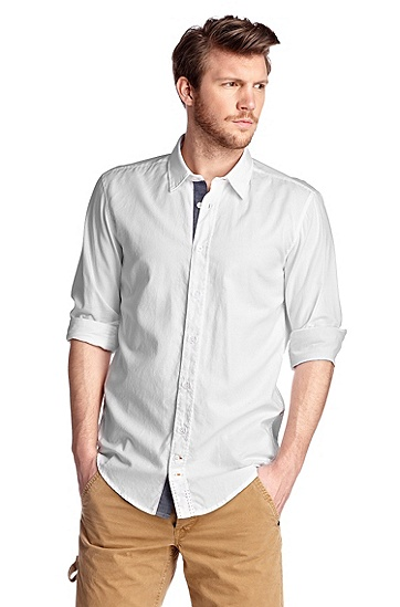 Casual shirt with Kent collar 'CliffE', Natural