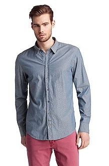 Casual shirt with all-over star pattern 'Cliff'