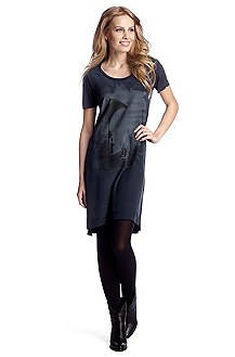 T-shirt long en soie et viscose, Turra