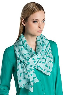 Silk scarf 'Women-Z 408'