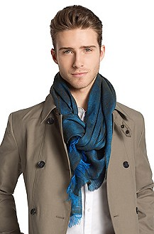 Scarf in blended linen/silk 'Men-Z 384'