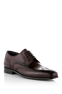 Lace-up shoe in fine calfskin leather 'Cefals'