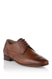 Lace-up shoe in smooth calfskin leather 'Stansio