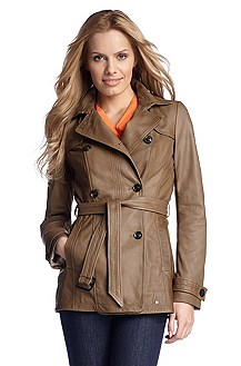 Leather trench coat 'Jarmila'