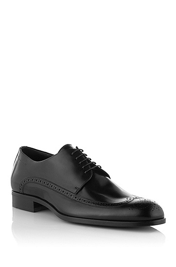 Calfskin leather lace-up 'Fittos', Black