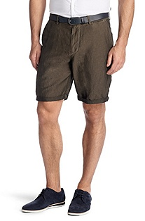 Regular-Fit Shorts ´Clyde1-5-D` mit Leinen