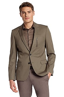 Pure cotton tailored jacket 'Astus'