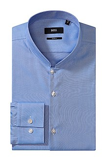 Business shirt with band collar `Jemil`
