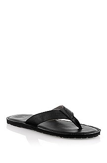 Slip slop with leather straps 'Longio'