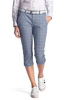 Cotton capri trousers 'Hoki-W'