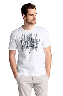 Regular fit T-shirt ´Terni 86` met ronde hals