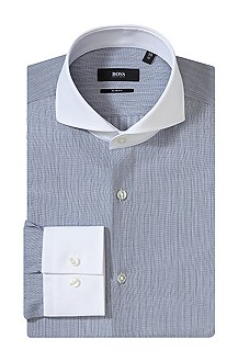Business shirt with contrasting collar 'Johan'