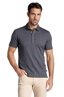 Regular fit cotton polo shirt 'Fontana 21'