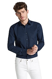 Slim fit shirt with Kent collar 'Elisha'