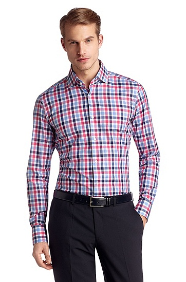 Regular fit cotton business shirt 'Gerald', Open Pink