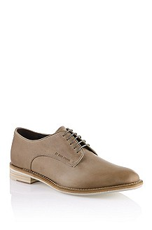 Lace-up shoe in washed cowhide leather 'Ofio'