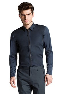 Slim fit shirt with Kent collar 'Ender'