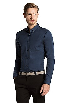 Slim fit shirt with button-down collar 'Enrico'