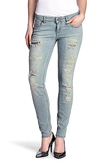 Jeans with vintage elements 'Lunja1 exhausted'