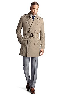 Trench coat with a wide fabric belt 'Lembart'