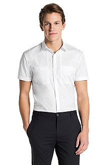 Slim fit casual shirt with a Kent collar 'Eirik'