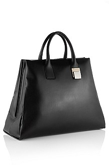 Calfskin leather handbag 'Leonor'