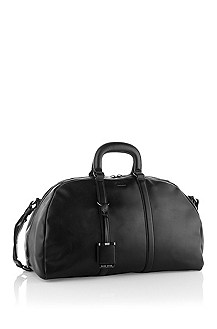 Exquisite calfskin leather weekender 'Perlis'