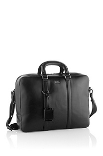 Finest, calfskin leather work bag 'Possiv'