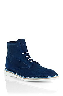 Lace-up suede boot 'Destio'