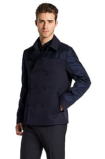 Outdoor jacket in a pea coat style 'Berol'