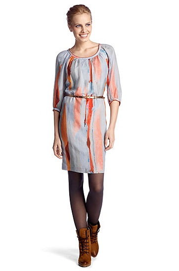 Casual dress in blended viscose 'Alvina1-W', Patterned