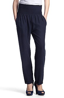 Pantalon détente Comfort Fit en soie, Sharony1-W