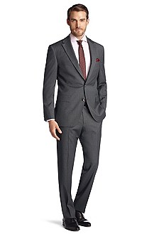 Suit made of textured new wool 'Segal3/State'